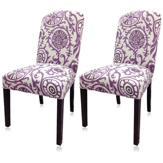 $230 Sole Designs Purple Passion Camelback Chair (Set of 2) | Overstock.com