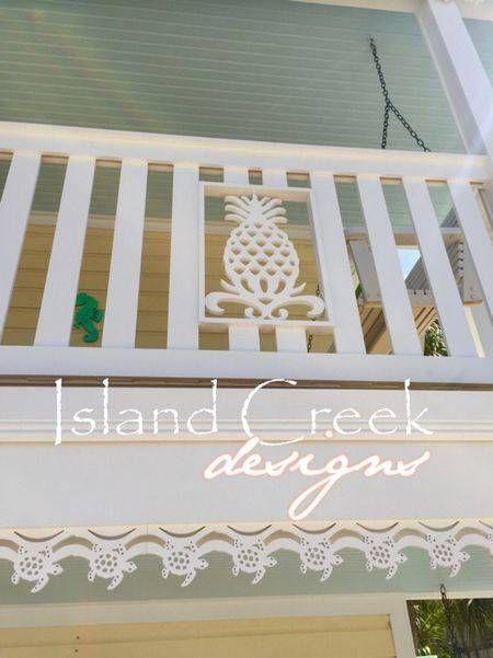 Custom Exterior Decorative PVC House Trim, Running Trim, Fascia Trim, Porch Trim, Pergola Trim, Window Trim. Made In The USA! Sea Turtle Design