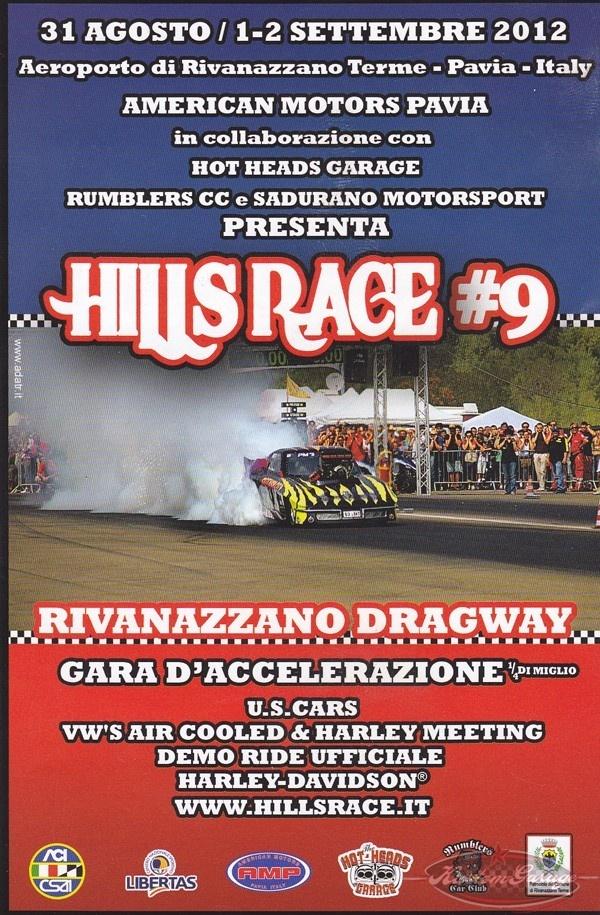 Tutto pronto per Hills Race, 31 ago - 2 sett a Rivanazzano (Pv) - Lo spettacolo del drag racing