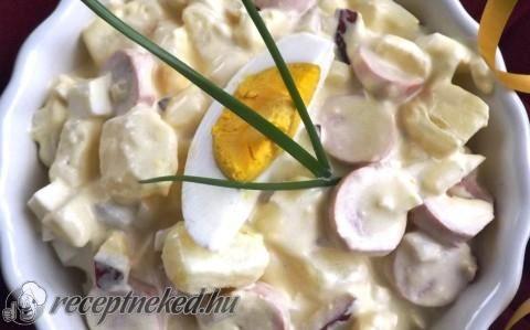 Virslis krumplisaláta recept fotóval