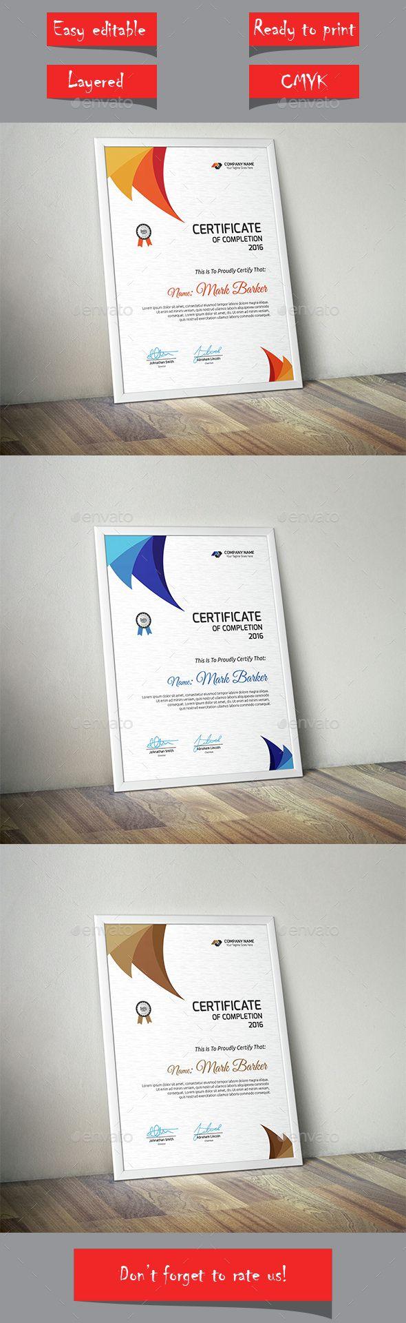 Certificate Template Vector EPS #design Download: http://graphicriver.net/item/certificate/14537711?ref=ksioks