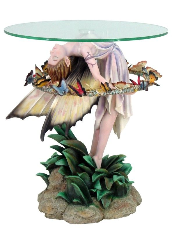 Sheila Wolk Garland Butterfly Fairy Glass Top Table...now THAT Is One  Funky Yet Pretty Table! | Buggy For Butterflies (and Moths) | Pinterest |  Butterfly, ...