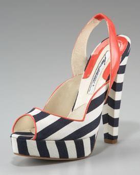 Полосатая обувь