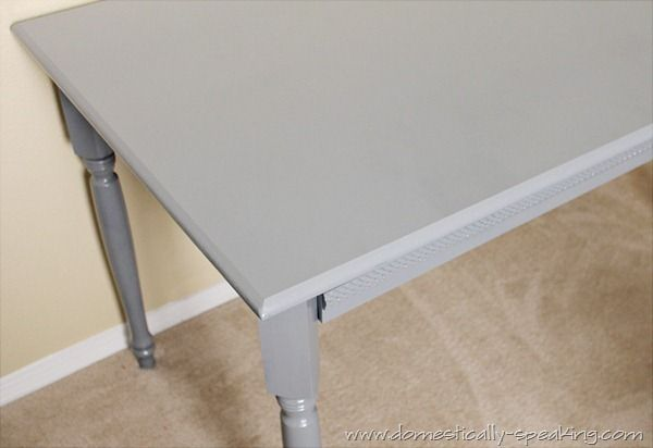 Coffee Table to Desk Spray Painted Gray: Color