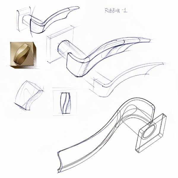 door #handle RIBBON #sketch #productdesign