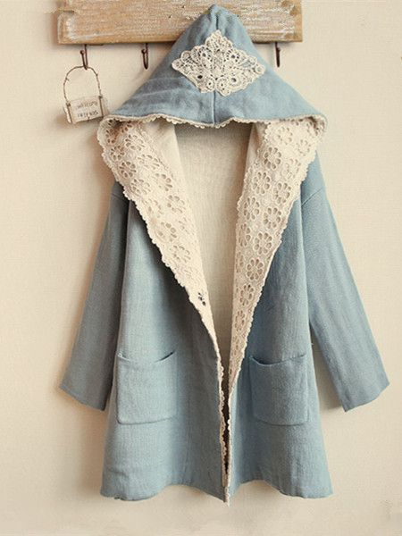 One Size   Length: 74cm Sleeve: 43cm Bust: 120cm Shoulder: 59cm  Pease buy from this link to avoid fees thank you! ^^  http://www.syndromestore.com/products/6164032-lace-eyelet-jacket