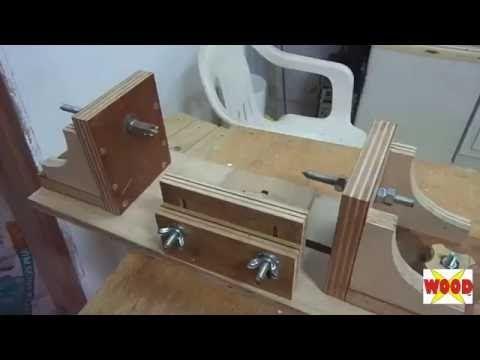 X-WOOD - TORNO PARA MADEIRA, COMO FAZER - HOW TO A LATHE - YouTube