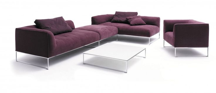 unique white coffee table with modern #Sofas for #LivingRoom #Design