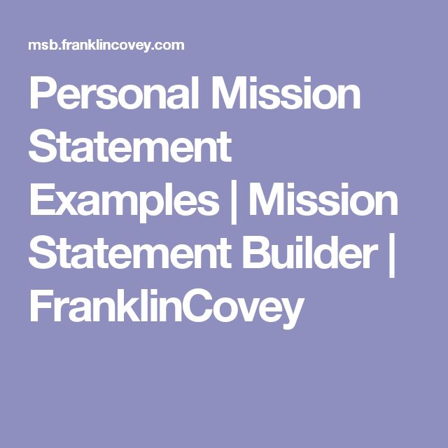 personal mission statement examples