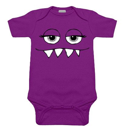 Girly Monster Purple One Piece