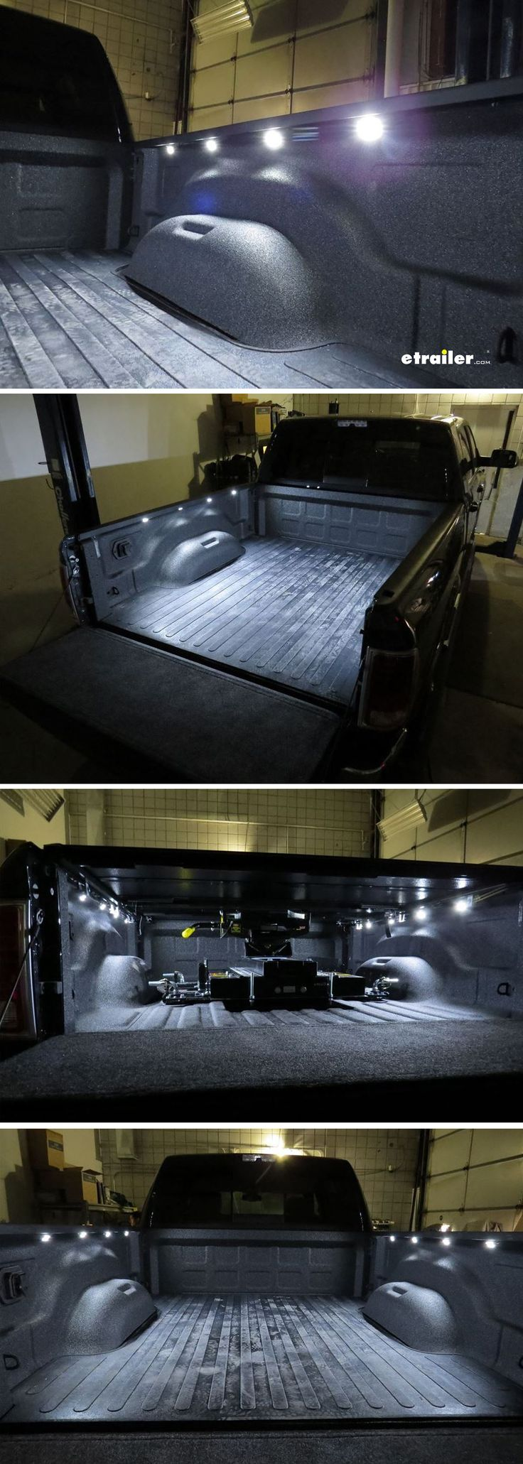 Illuminate your truck bed with this B-Light system. The LEDs install safely under your truck bed rails in 30 minutes, and they're compatible with all truck makes and models and all tonneau cover styles.