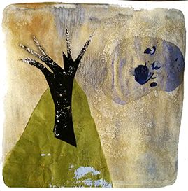 Deborah Anne Withey's new monoprint designs on art rookie 'moonlit forest' #interiorstyle #design
