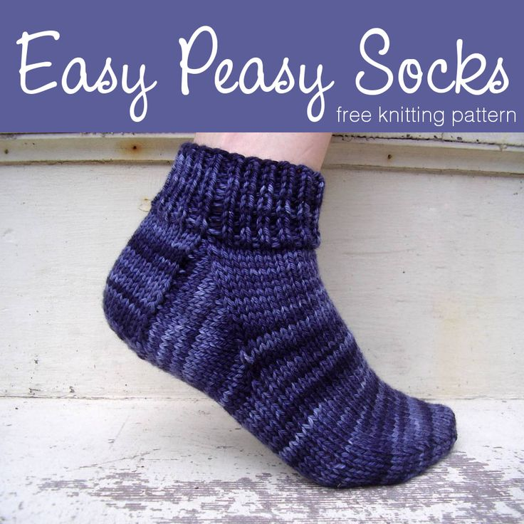 Free Knitting Pattern: Easy Peasy Socks – Knitting world