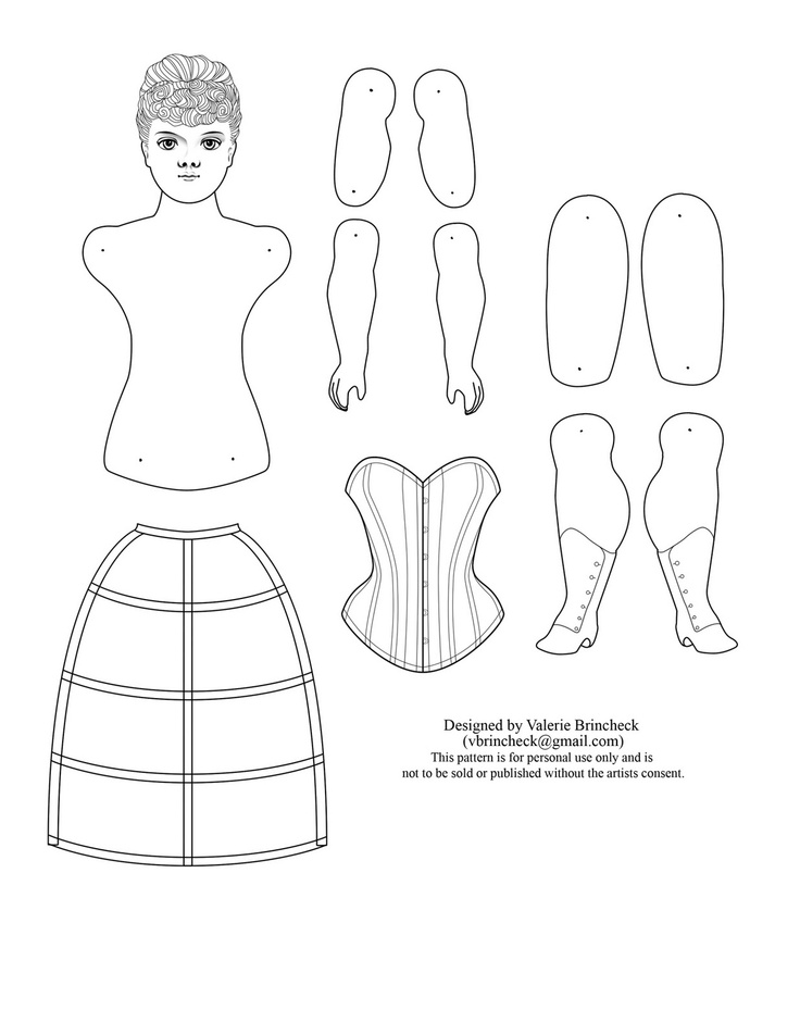 Best Paper Dolls  Images On   Paper Paper Toys