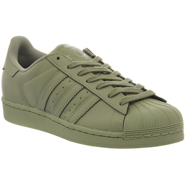 Adidas Superstar 1 Pharrell Supercolor Shift Olive (330 PEN) ❤ liked on Polyvore featuring shoes, sneakers, olive shoes, famous footwear, adidas footwear, women shoes and adidas