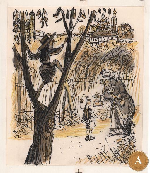 Книжная иллюстрация, художник М. Скобелев («Избранные рассказы» А. Чехов)