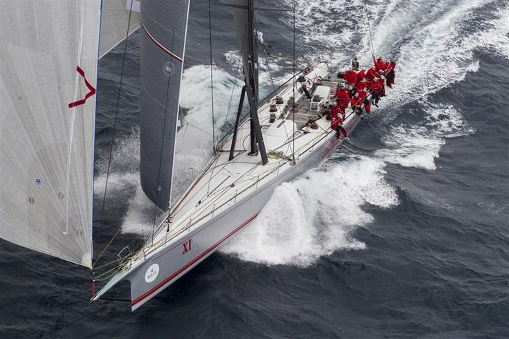 BOB OATLEY'S WILD OATS XI (AUS) LEAVING SYDNEY HARBOUR Photo: Rolex / Stefano Gattini