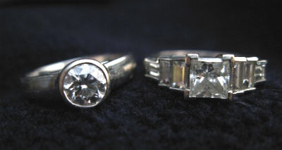 Dual engagement rings for Meggie and Jess from Greenwich Jewelers.: Engagement Ring