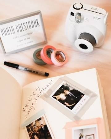 poloroid guest book! Wedding Guest Book Ideas