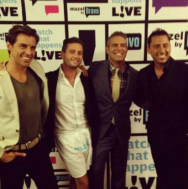 Andy Cohen & the guys from Million Dollar Listing Los