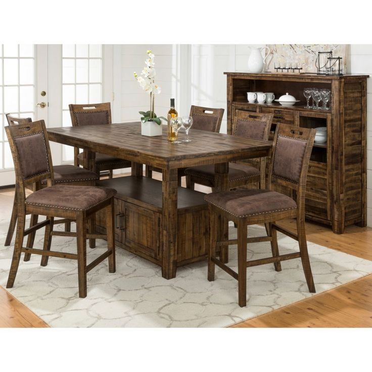 Jofran Cannon Valley Dining Table with Storage Base - The distressed Jofran Cannon Valley Dining Table with Storage Base offers a wealth of storage and character for your kitchen, breakfast nook,...