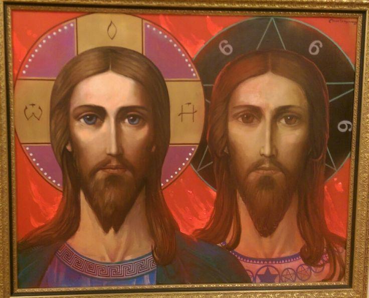 ИЛЬЯ СЕРГЕЕВИЧ ГЛАЗУНОВ ILYA SERGEEVICH GLAZUNOV B.1930 Христос и Антихрист. 1999 Christ and Antichrist. 1999