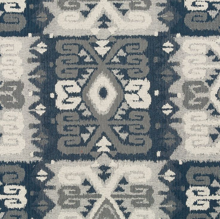 Blue Grey Tribal Upholstery Fabric - Navy Blue Navajo Fabric for Furniture - Custom Blue Grey Ikat Pillows - Modern Upholstery Fabric Online by PopDecorFabrics on Etsy https://www.etsy.com/listing/468627311/blue-grey-tribal-upholstery-fabric-navy