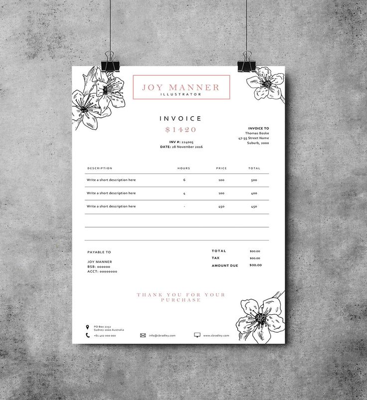 Invoice template | Receipt template | Invoice design by EmandCoDesign on Etsy                                                                                                                                                                                 More