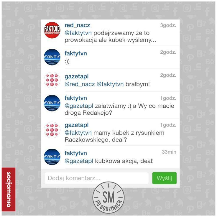 """Tak media """"kochają się"""" na Instagramie. To też dobre miejsce do rozmów! :) #Instagram #SocialMediaPoGodzinach"""