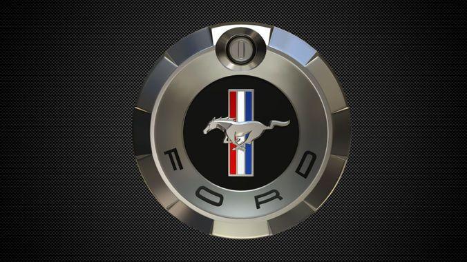 Mustang Logo 5 3d Model Mustang Logo Ford Mustang 1964 Ford Mustang Logo