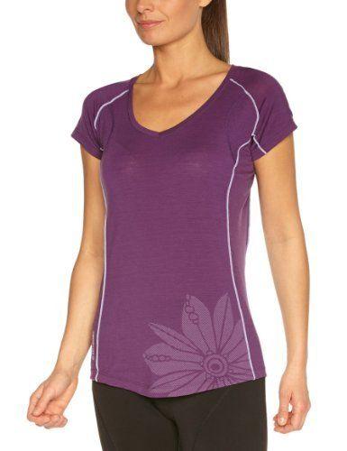 Intéressé(e) par les vêtements de randonnée ? Profitez de nos promotions femme de -20% à -50%*. Visitez également notre boutique Randonnée et Camping.  Icebreaker Flash T-Shirt manches courtes col V femme Eggplant FR : 38 (Taille Fabricant : S) de Ice Breaker, http://www.amazon.fr/dp/B008GWW7JG/ref=cm_sw_r_pi_dp_.EXisb0V65ZD7