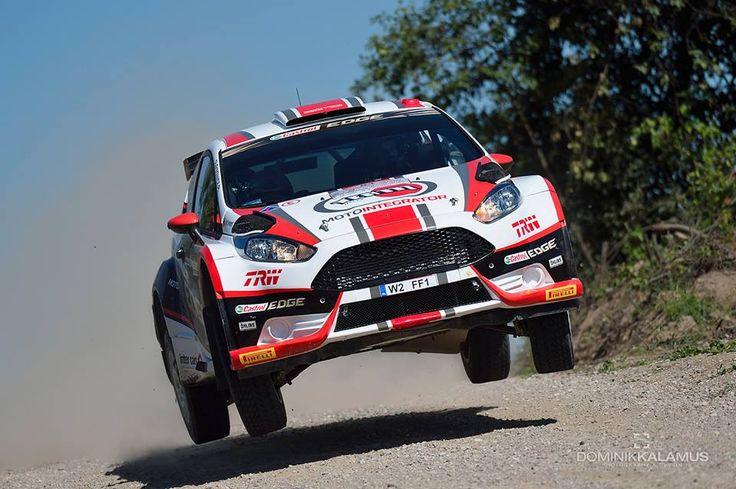 Ford Fiesta R5 Motointegrator Team na mazurskich szutrach podczas 72. Rajdu Polski.