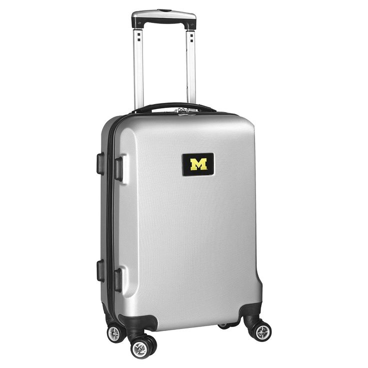 NCAA Michigan Wolverines Silver Carry-On Hardcase Spinner