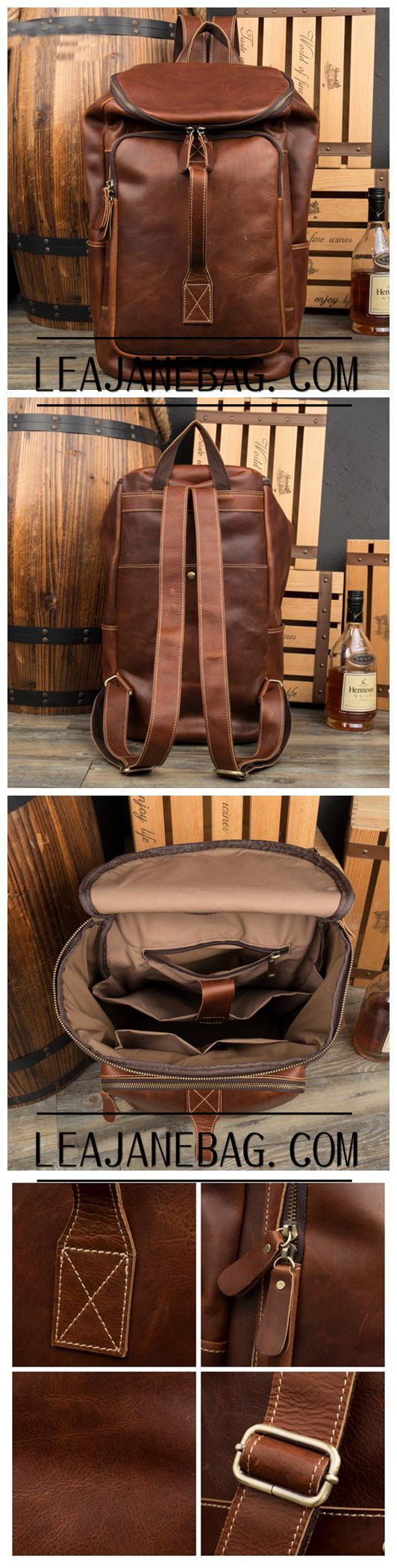 Leather Backpack for Traveling, Fashion Backpack in Italian Genuine Leather,Handmade Backpack MS058