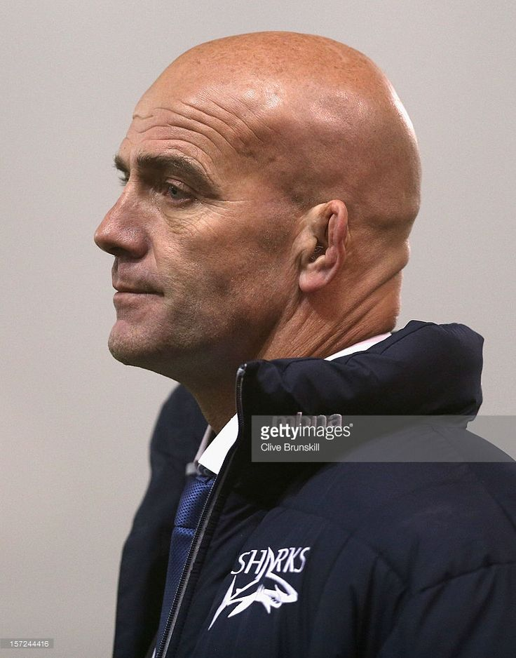 John Mitchell Director of rugby for Sale Sharks during the Aviva Premiership match between Sale Sharks and Northampton Saints at Salford City Stadium on November 30, 2012 in Salford, England.