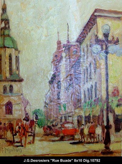 Original oill painting on canevas by Jean-Guy Desrosiers #jeanguydesrosiers #artist #canadianartist #quebecartist #art #fineart #figurativeart #originalpainting #oilpainting #cityscene #balcondart #multiart