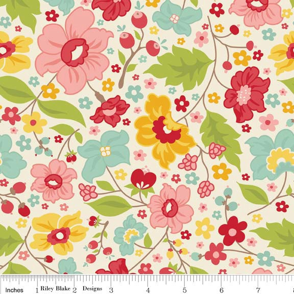 1 YARD of The Sweetest Thing Laminate Fabric by Zoe Pearn for Riley Blake Fabrics. $22.95, via Etsy.