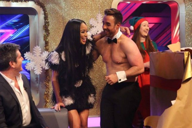 Simon Cowell is doing his best to keep this rumour going about Xtra Factor presenter Sarah-Jane Crawford and singer Stevi Ritchie