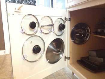 M s de 1000 ideas sobre percha de cacerolas de cocina en for Perchas adhesivas