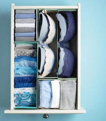 Use shoe boxes to organize your drawers. This makes to so much easier to find what you need and keeps items from getting lost in the back of the drawer. - See more at:
