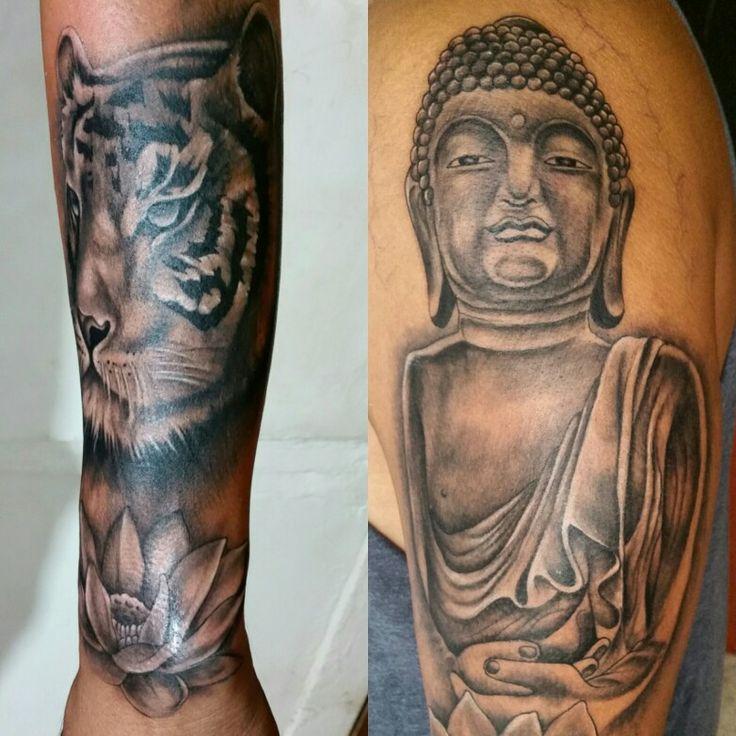 Tattoo tigre y buda #tattoo #oriental