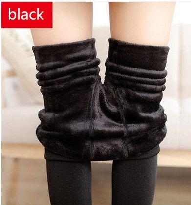 Winter Women Warm Leggings Elastic High Waist Plus Velvet Faux Thick Slim Stretch Thick Trousers Female