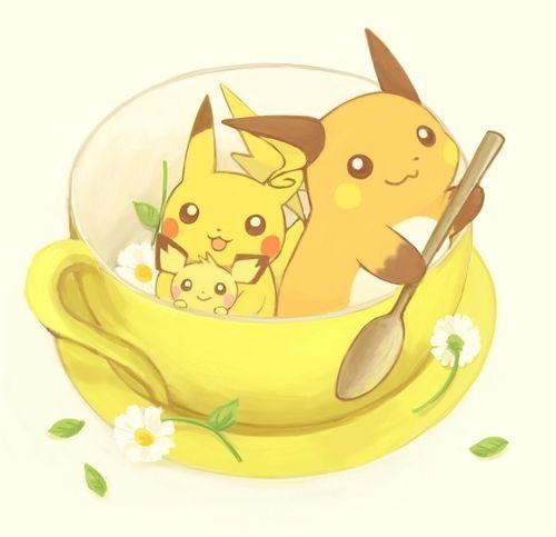 Pichu, Pikachu & Raichu #anime #kawaii