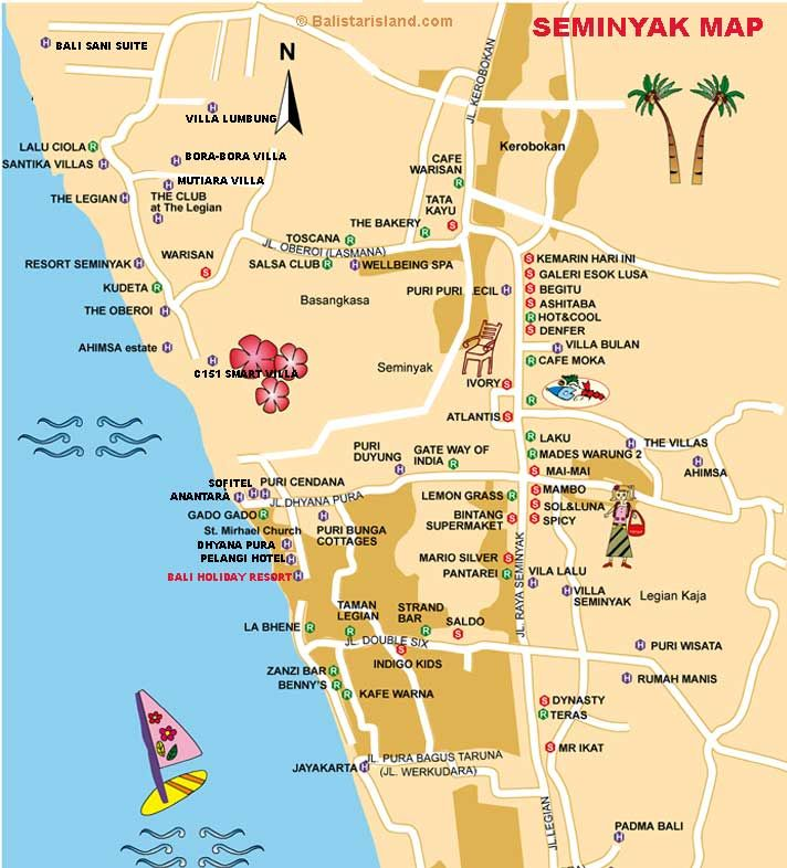 Bali Tourist Map Google