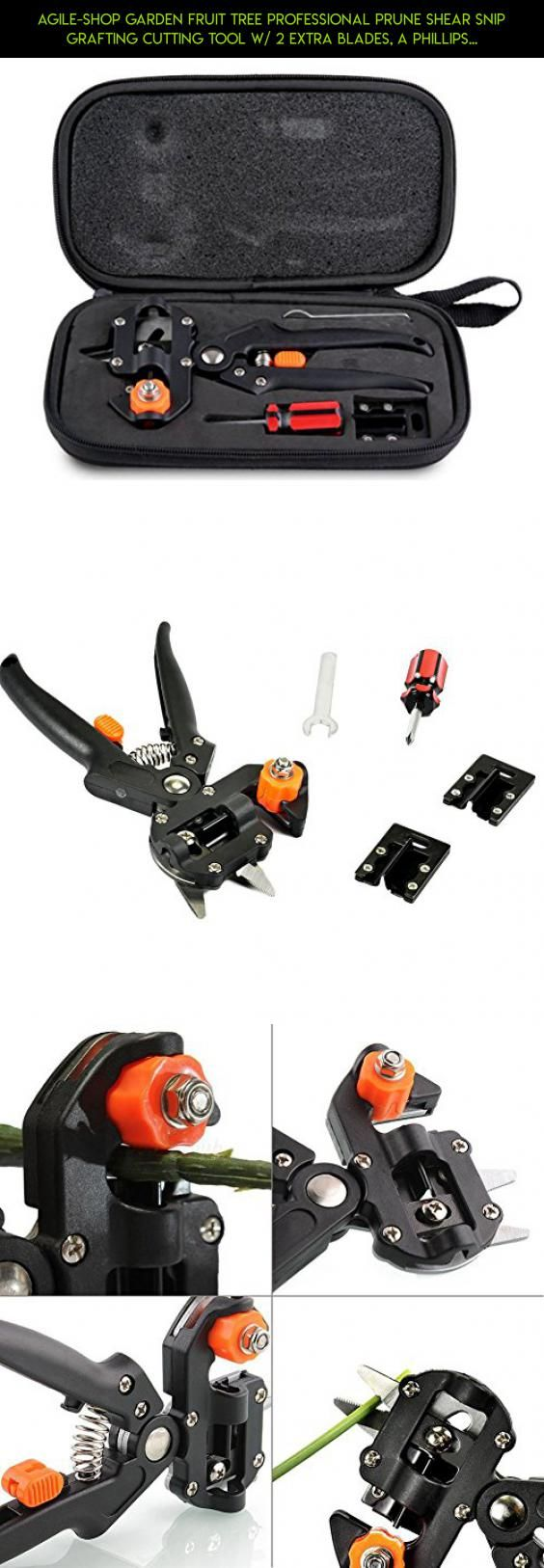 Agile-Shop Garden Fruit Tree Professional Prune Shear Snip Grafting Cutting Tool w/ 2 Extra Blades, a Phillips Screwdriver and a Wrench - Tree Grafting Kit #kit #phillips #products #plans #drone #technology #trimmers #shopping #racing #in #parts #fpv #camera #gadgets #tech