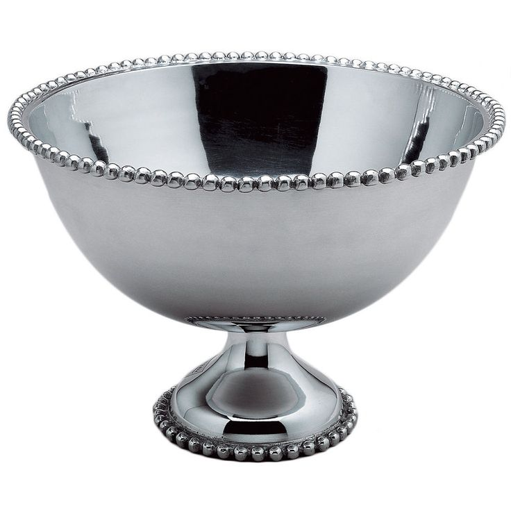 I have silver plated punch bowl and decided cleaning that was just too much work, great replacement. Handmade of highly polished aluminum, the bowl holds over 3 gallons and both the top rim and base are banded in imperial beads. | eBay!