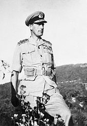 Lord Louis Mountbatten, Supreme Allied Commander, seen during his tour of the Arakan Front in February 1944.