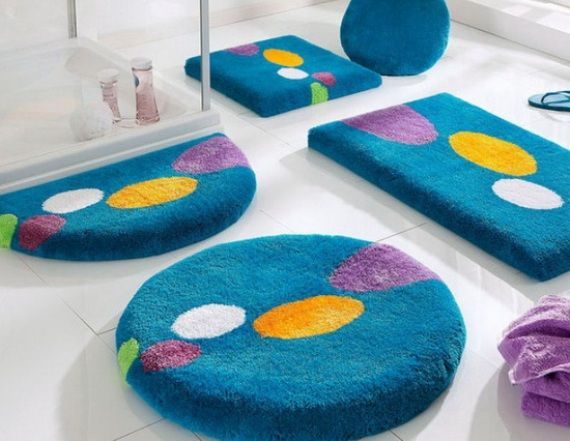 Best Bathroom Rug Sets Ideas On Pinterest Skull Decor - Bath rug blue for bathroom decorating ideas