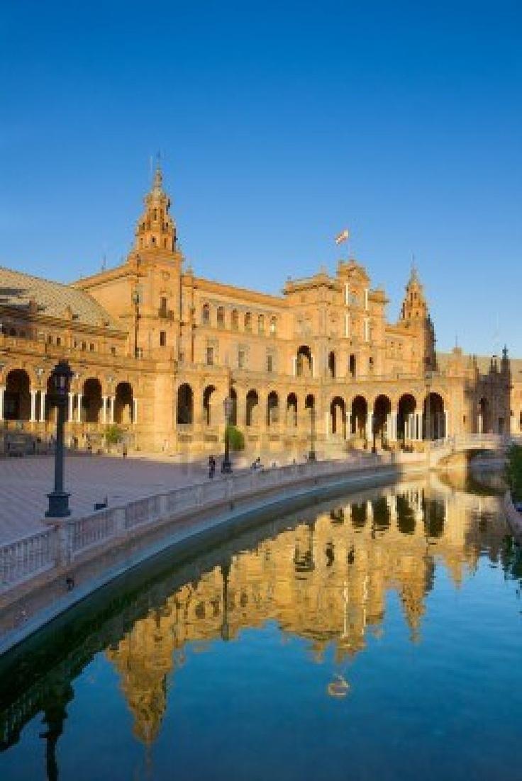 Plaza de Espana Piazza di Spagna, Siviglia,