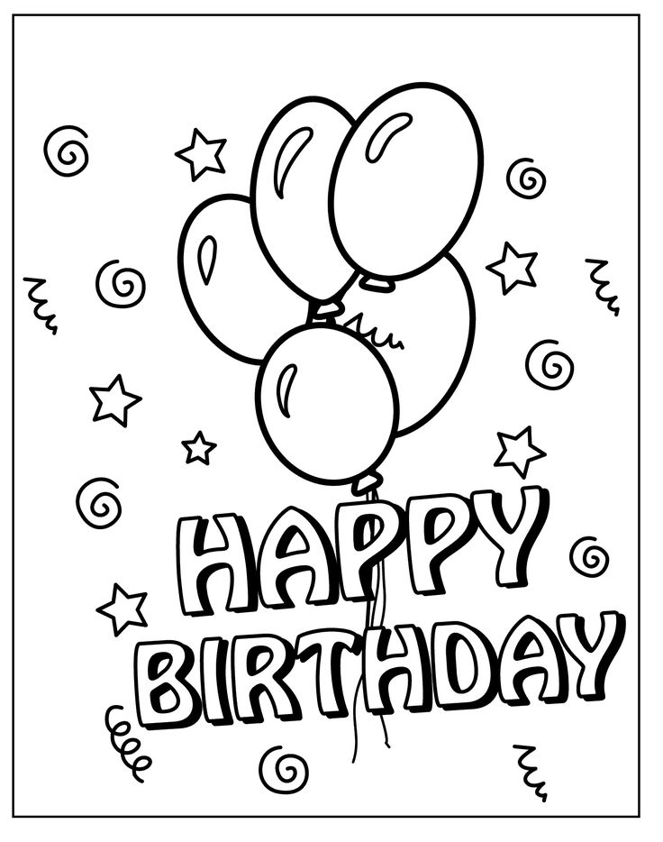 112 best Happy birthday coloring pages images on Pinterest ...